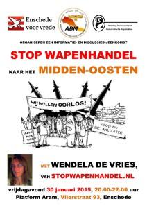 affiche stop wapenhandel naar mo - 2015-01-30